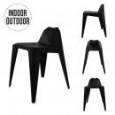black origami stool
