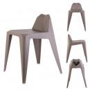 gray origami stool