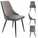 chair velvet gray holm