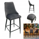 bar chair velvet gray ecken