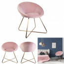 Karl chair velvet pink