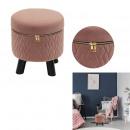 stool velvetClosure type pink eclair