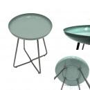 stolik okrągły okrągły zasobnik błyszczący zielona