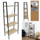 shelf wood and metal 148x60x32.5