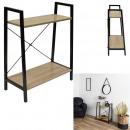 etagere bois et metal 70x60x27