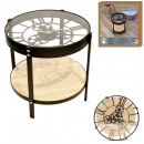 side table clock 40.5x40.5x39cm