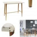 table mange debout blanc 115x60x102cm