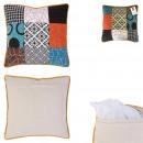 Pillow patchwork dehoussable 40x40cm