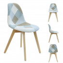 világoskék patchwork szék