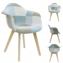 light blue patchwork armchair