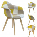 yellow patchwork armchair