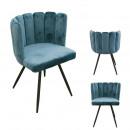 krzesło Arielaksamit niebieska kaczka