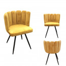 chair Arielvelvet yellow
