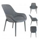 gray malibu armchair