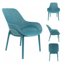 kék malibu fotel