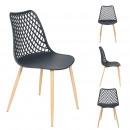chaise malaga gris