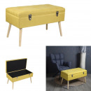 bench suitcase yellow suitcase
