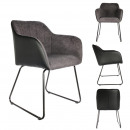gray and black memphis armchair