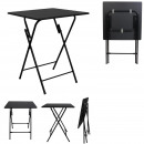 table pliable noir ulm 60x60cm