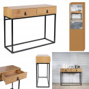 Abbott wood and metal console