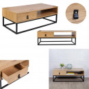 Abbott wood and metal coffee table