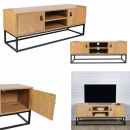 abbott wood and metal tv stand