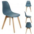 hurtownia Mieszkanie & Dekoracje: Skandynawskie krzesło PP kaczka w kolorze niebiesk