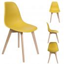 Scandinavian chair shell mustard pp