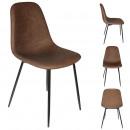 pu amber chair brown