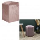 pouf velvet cotele 35cm giulia pink