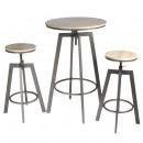Stół do jadalni stojący 2 krzesła regulowane aria