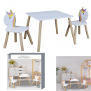 lily unicorn table and 2 chairs