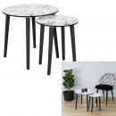 natural wild nesting table x2
