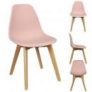 Scandinavian chair powder pink pp shell