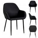 black giulia armchair velvet cotele