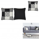 Pillow patchwork black white 40x40cm