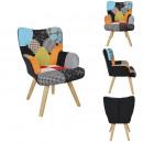 Fotel dziecięcy z patchworku helsinki