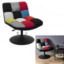 anton patchwork swivel chair
