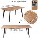 ausziehbarer Tisch 6 bis 8 Personen Wald
