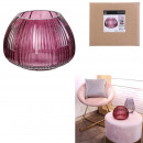 mayorista Casa y decoración:jarrón marra rosa 15cm