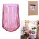 pink carly vase 20cm