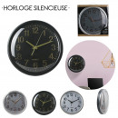 35cm silent clock, 1-times assorted