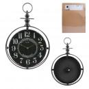 czarny metalowy zegar ścienny