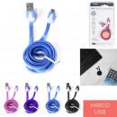 cable charge et sync micro usb plat, 4-fois assort