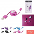 Cable retractable charging and synchro micro usb,