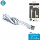 Cable approved Iphone 5 and 6 white, 1-time assort
