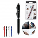 wholesale Pencils & Writing Instruments: laser pen stylus led 4in1, 4- times assorted