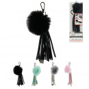 Keychain Cable tags Iphone mfi integrated, 4-fold