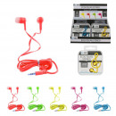 groothandel Consumer electronics: fluo bedrade headsets 5- maal geassorteerd