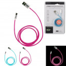 micro usb cable phosphorescent, 2- times assorted